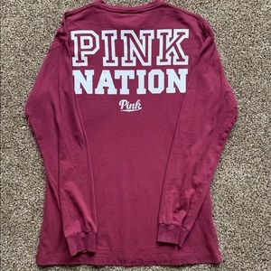 Vs Pink Nation long sleeve